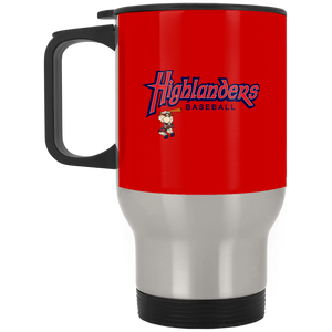 Highlanders Baseball Full Logo  Silver Stainless Travel Mug