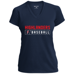 Highlanders Bar Logo (red) Ladies' Performance T-Shirt