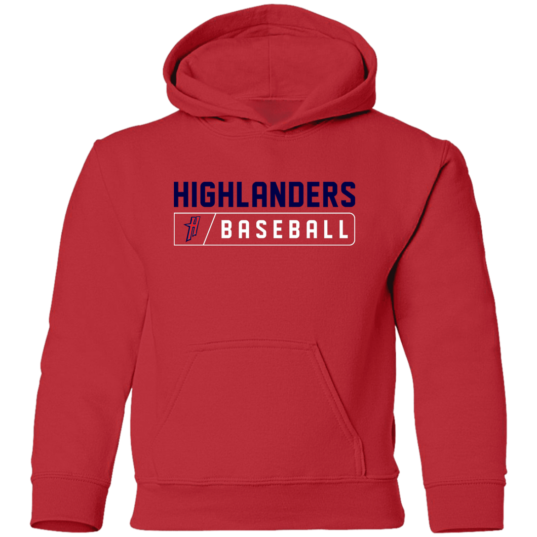Highlanders Bar Logo (blue) Youth Pullover Hoodie
