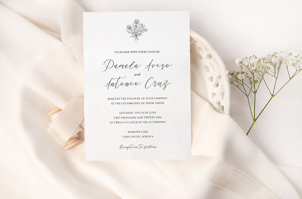 Sophia - Vintage Botanical Wedding Invitation Suite