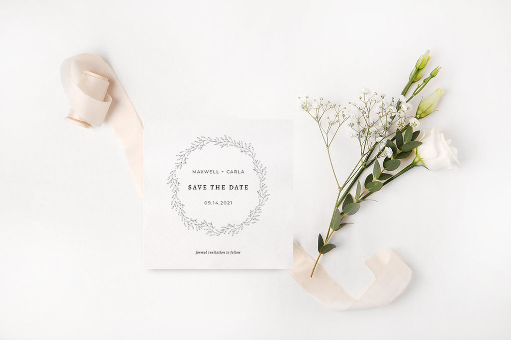 Rustic Wreath Save the Date