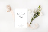 Savannah - Contemporary Minimalist Save the Date