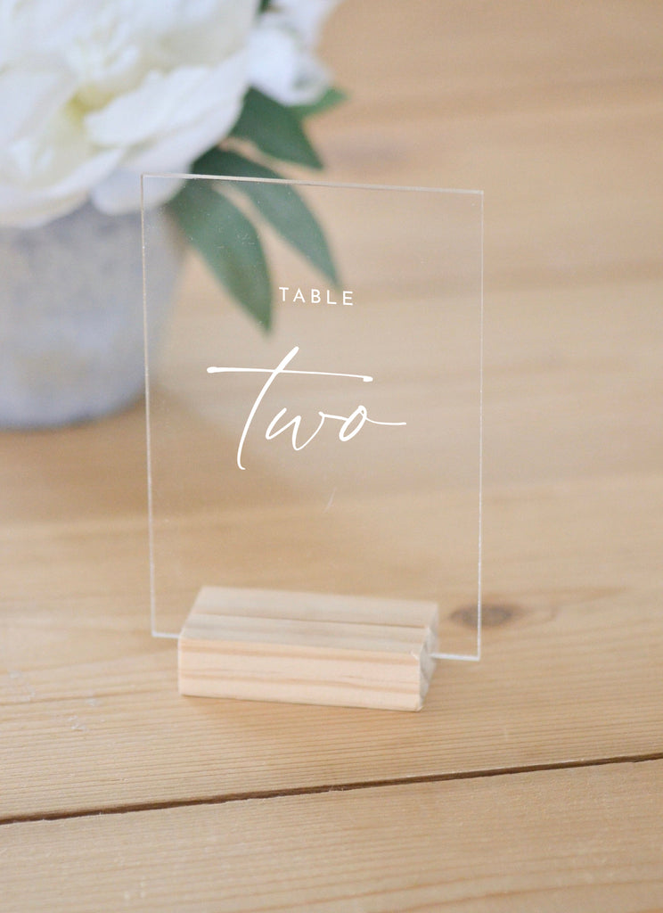 Modern Acrylic Table Numbers