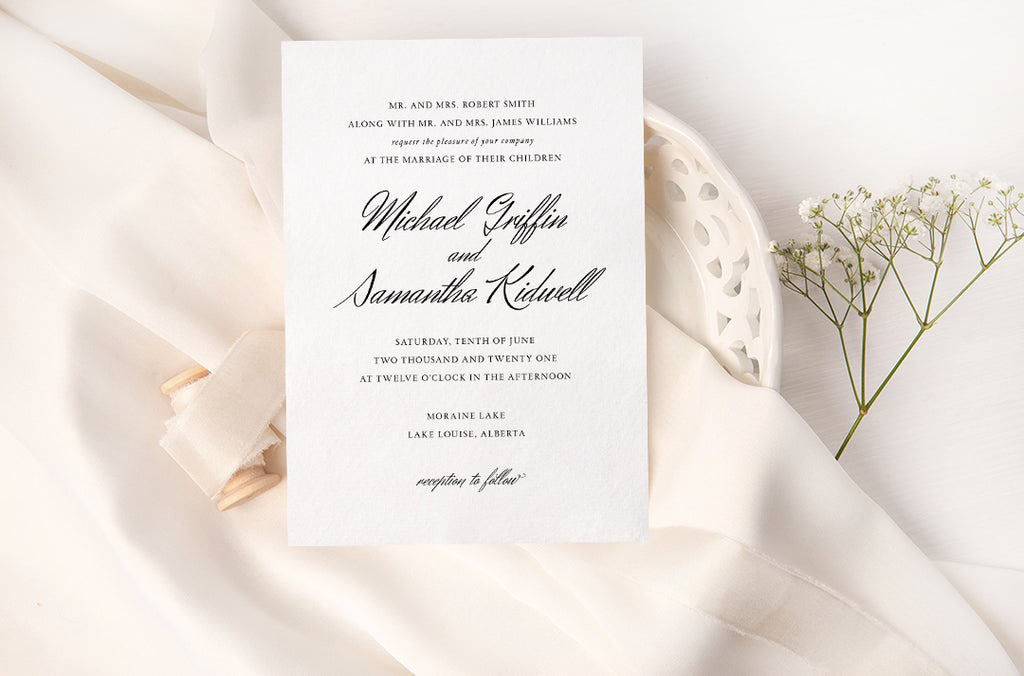 Classic and Formal Wedding Invitation Suite
