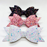 4.75'' Handmade Glitter Hair Bow