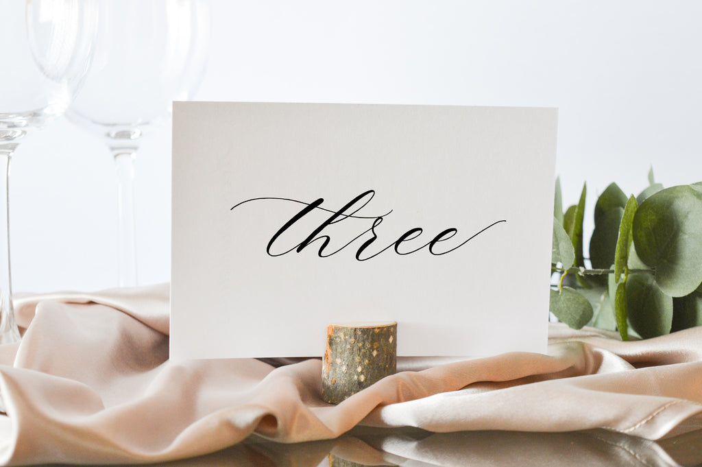 Romantic Calligraphy Table Numbers