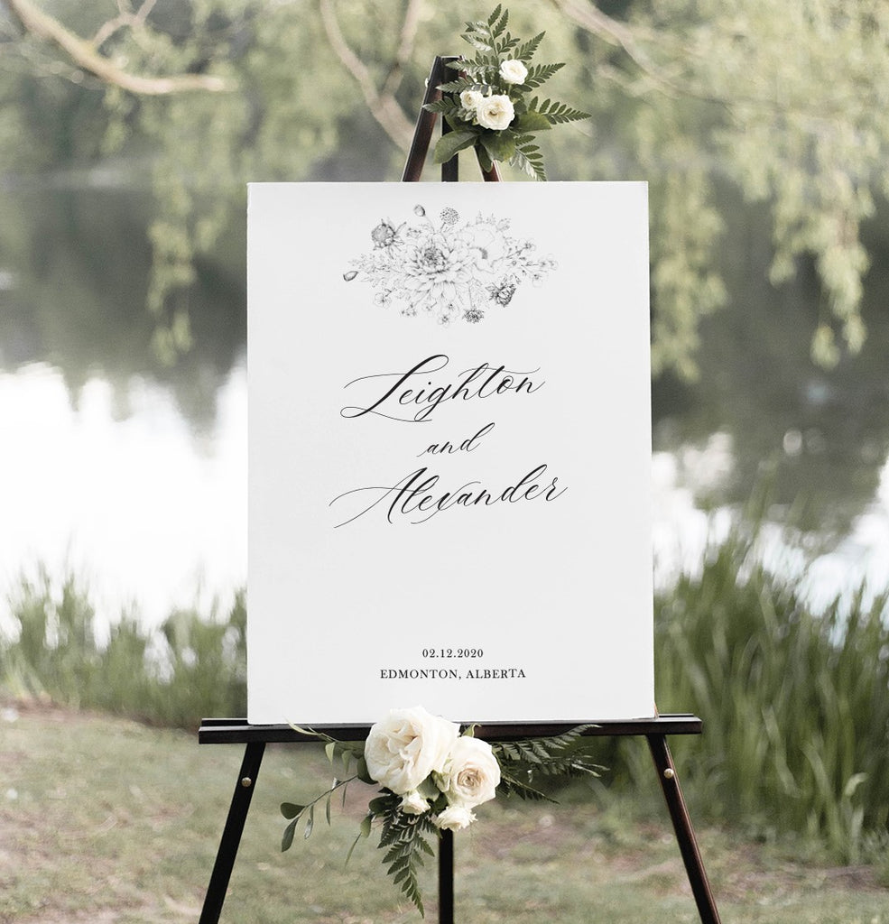 Romantic Boho Wedding Sign