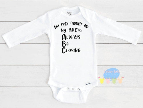 ABC's of Real Estate Baby Onesie® / Bib / Toddler T-Shirt - Cutesy Baby Boutique