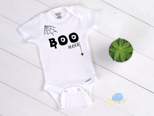 BOO Halloween Baby Onesie® / Bib / Toddler T Shirt - Cutesy Baby Boutique