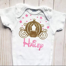 Load image into Gallery viewer, Cinderella's Enchanted Carriage Baby Onesie® / Bib / Toddler T-Shirt - Cutesy Baby Boutique