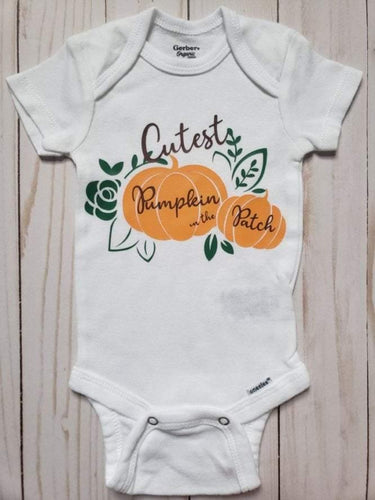 Cutest Pumpkin in the Patch Baby Onesie® / Bib / Toddler T-Shirt - Cutesy Baby Boutique