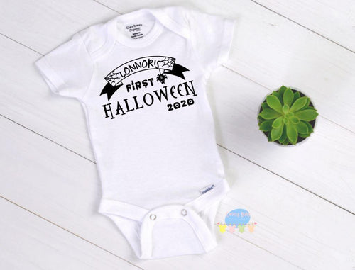 FIRST Halloween Baby Onesie® / Bib - Cutesy Baby Boutique