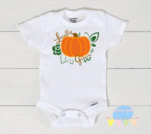 Locally Grown Fall Baby Onesie / Bib / Toddler T Shirt - Cutesy Baby Boutique