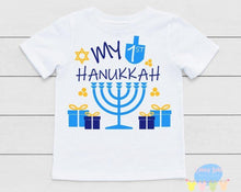 Load image into Gallery viewer, My 1st Hanukkah Gender Neutral Baby Onesie / Bib / Toddler T Shirt - Cutesy Baby Boutique