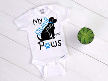 Load image into Gallery viewer, My Sibling has Paws Baby Onesie® / Bib / Toddler T-Shirt - Cutesy Baby Boutique