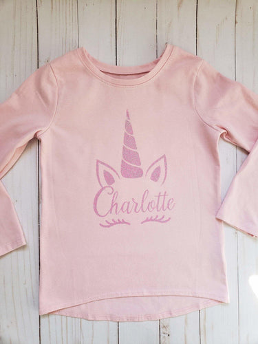 Pink Glitter Unicorn Toddler T-Shirt - Cutesy Baby Boutique