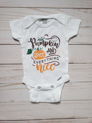 Pumpkin Spice Baby Onesie® / Bib/ Toddler T-Shirt - Cutesy Baby Boutique