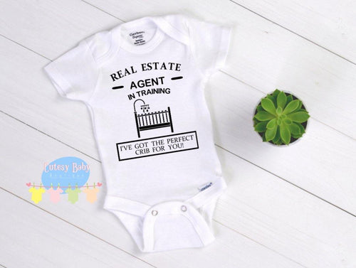Real Estate Agent In Training Baby Onesie® / Bib / Toddler T-Shirt - Cutesy Baby Boutique
