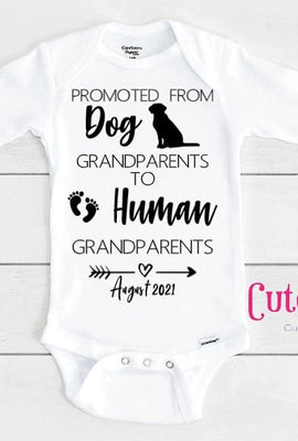 grandparents announcement custom baby onesie
