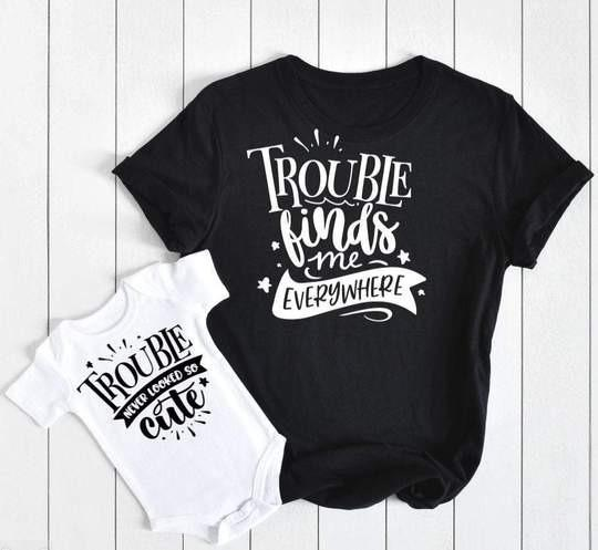 mommy and me custom tshirt and onesie