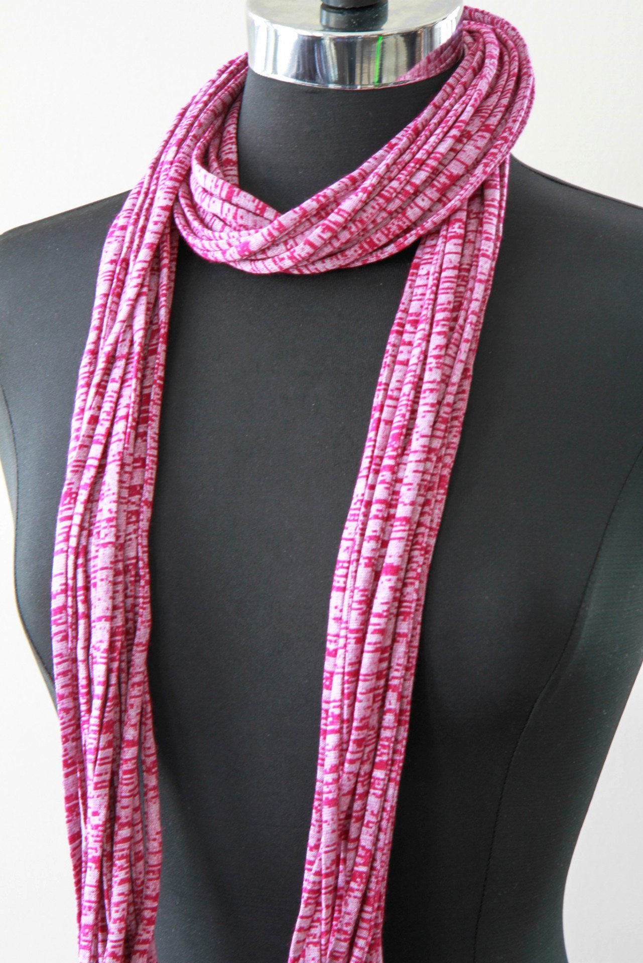 scarf purple products pink by necknots mosaic and infinity
