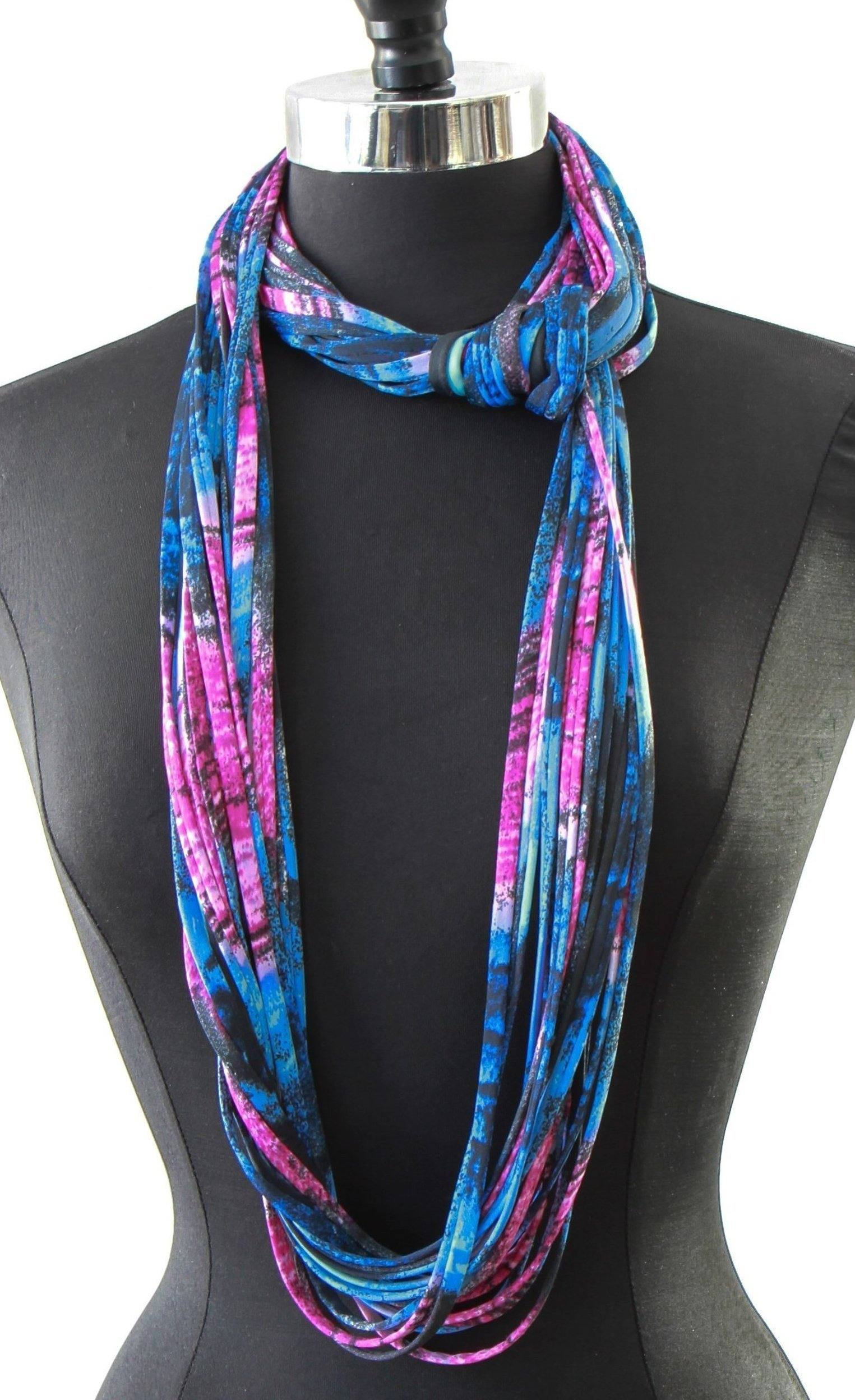 neon infinity pink scarf fluorescent
