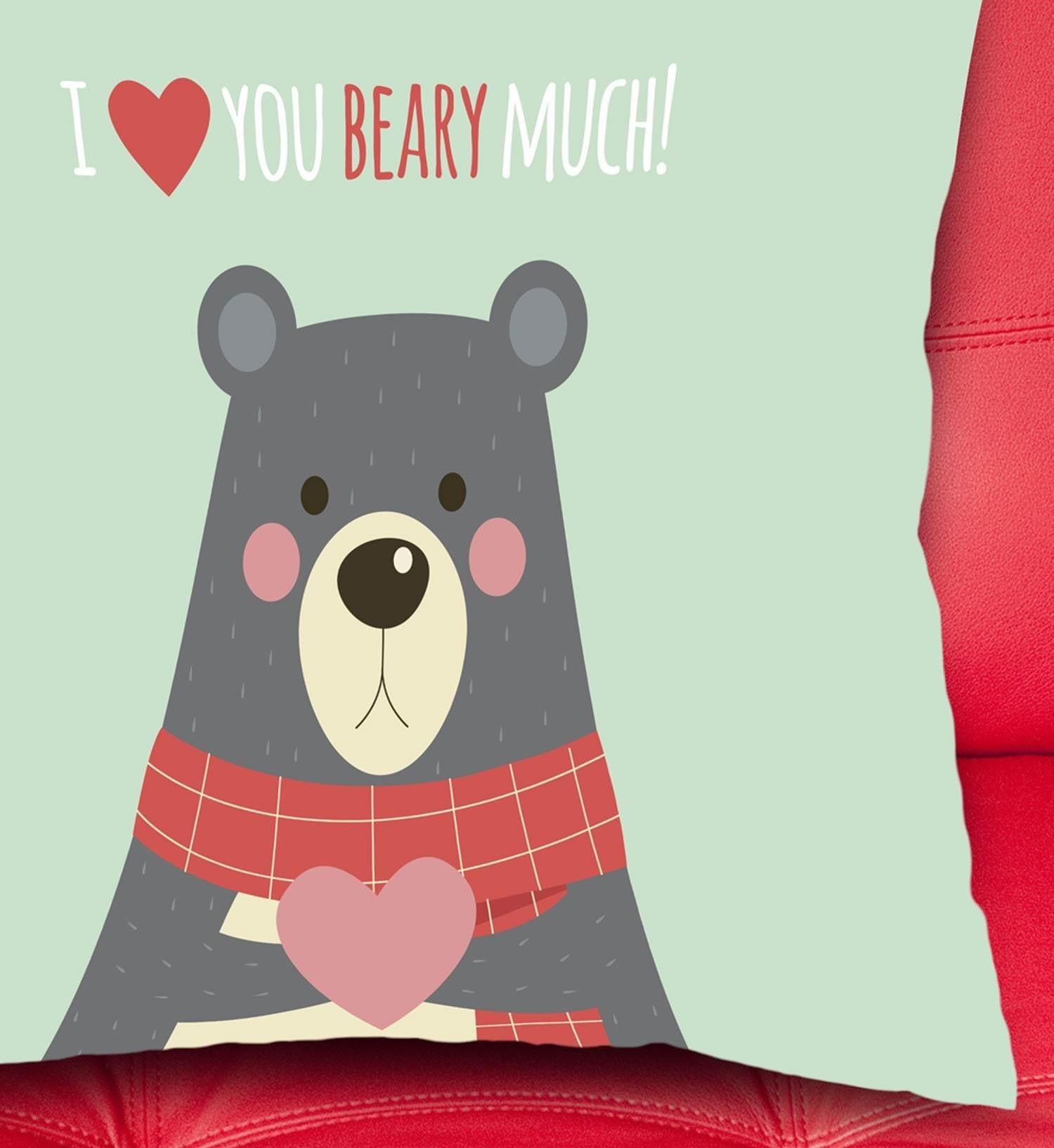 I love you BEARY much párna