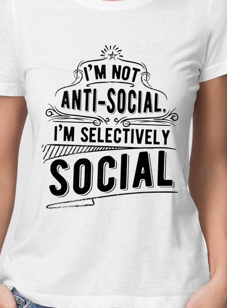 I am not antisocial női póló