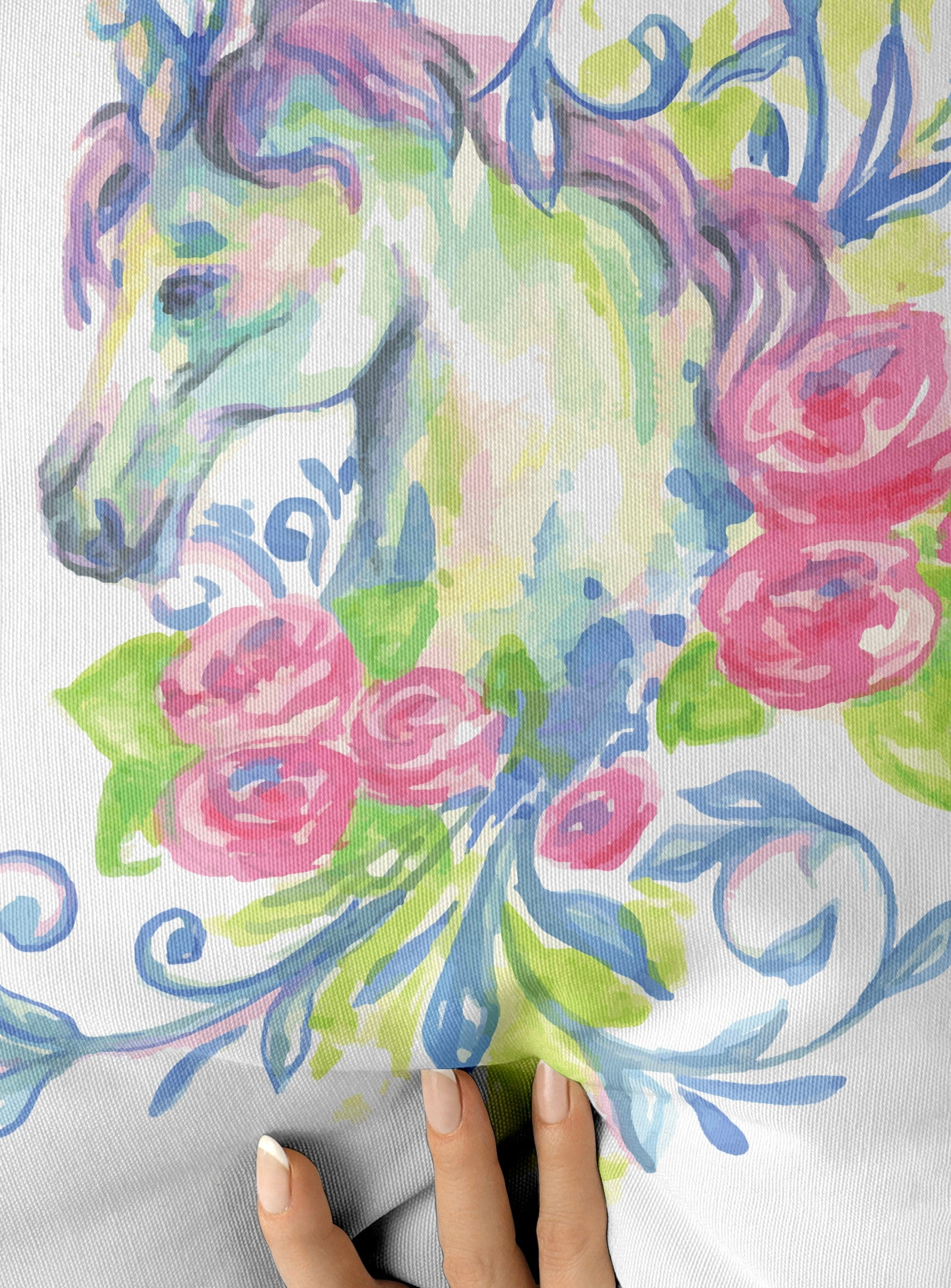 Unicorn watercolor párna