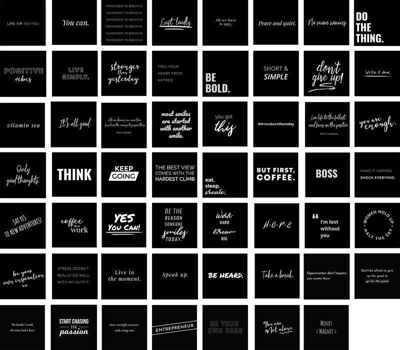 Inspirational/Motivational Quotes, Bundle 2 (black and white background)