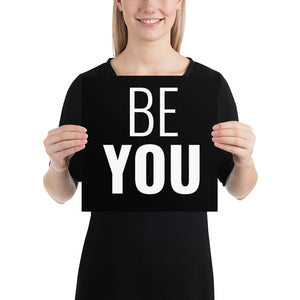 Poster - Quotes - Be you, black