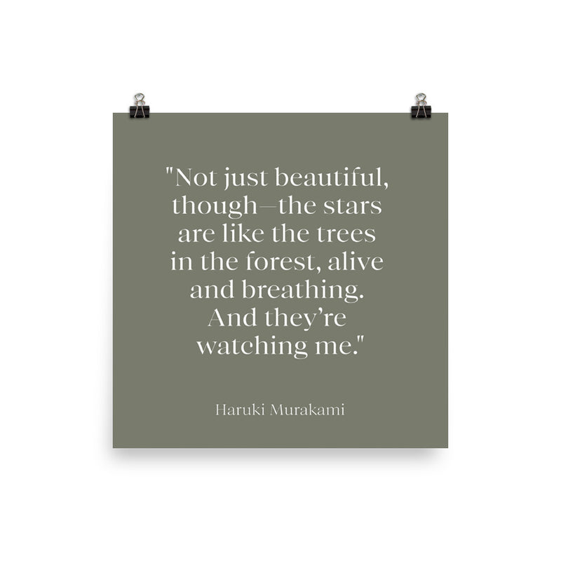 Poster - Quotes - Nature - Not just beautiful, Murakami