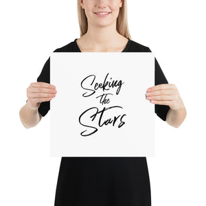 Poster - Quotes - Seeking the stars, white