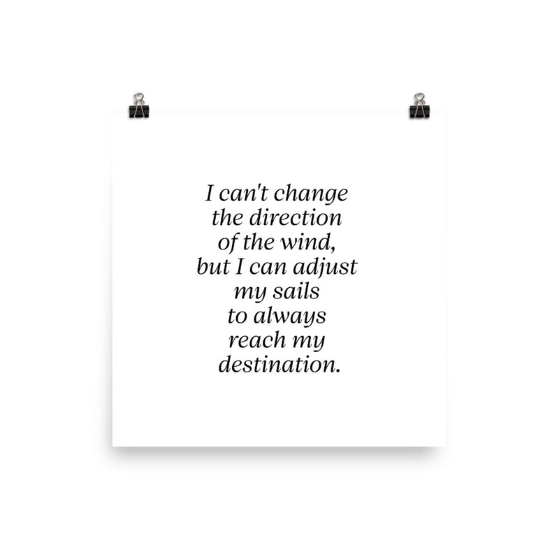 Poster - Inspirational Quotes - I can't change the direction of the wind