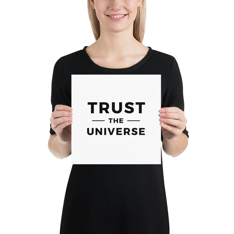 Poster - Quotes - Trust the universe, white