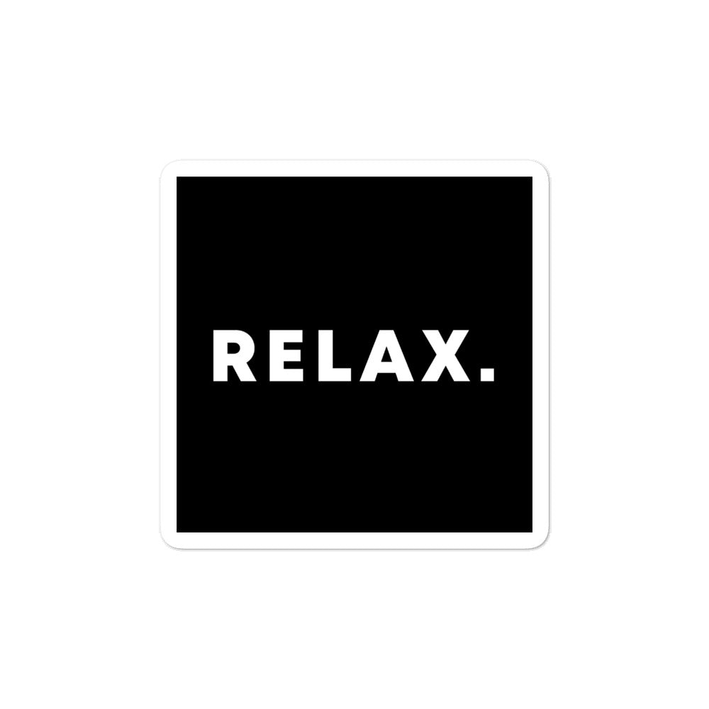 Bubble-free stickers - Relax
