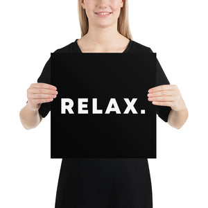 Poster - Quotes - Relax, black