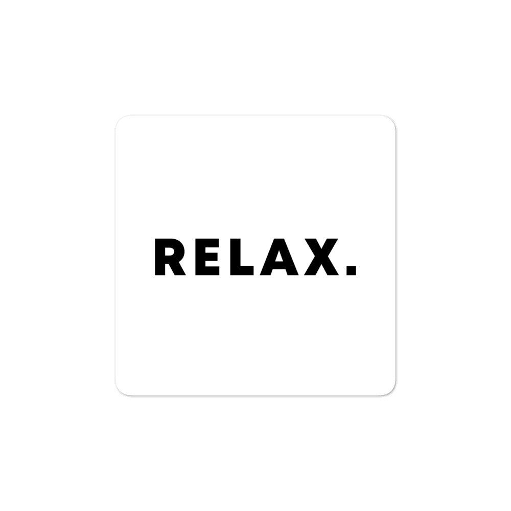 Bubble-free stickers - Relax, white