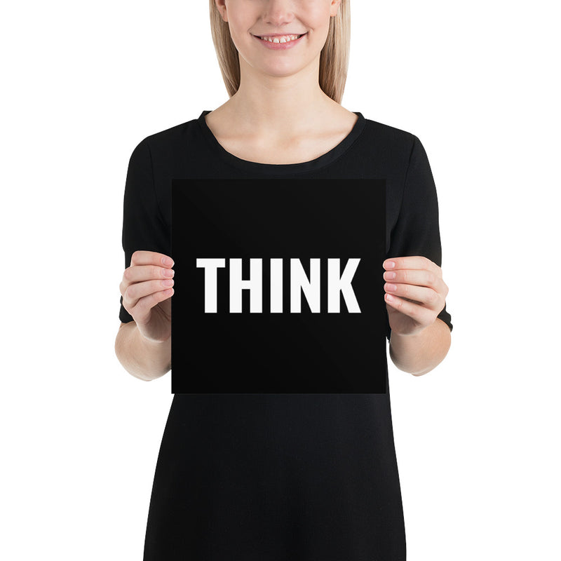 Poster - Quotes - Think, black