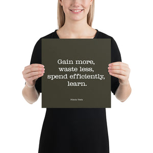 Poster - Inspirational Quotes - Gain more, N. Tesla