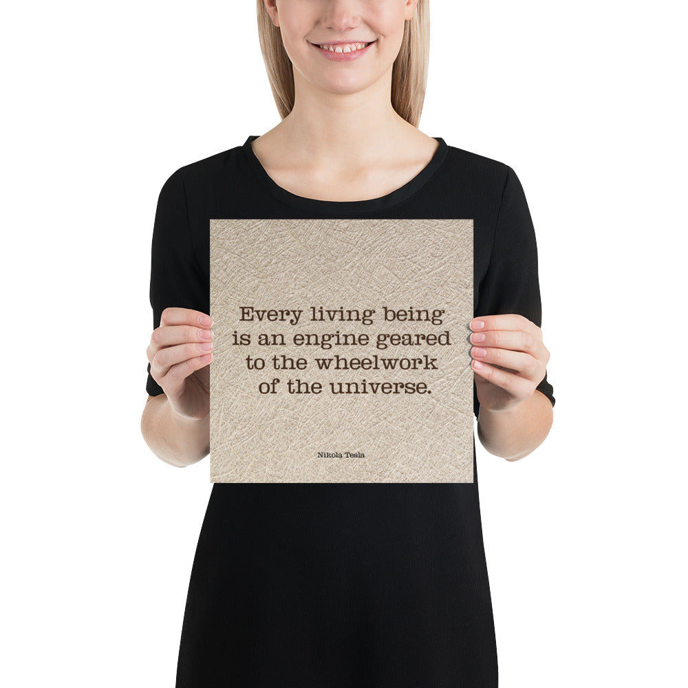 Poster - Inspirational Quotes - Every living being, N. Tesla,