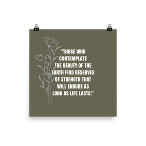 Poster - Quotes - Nature- Those who...