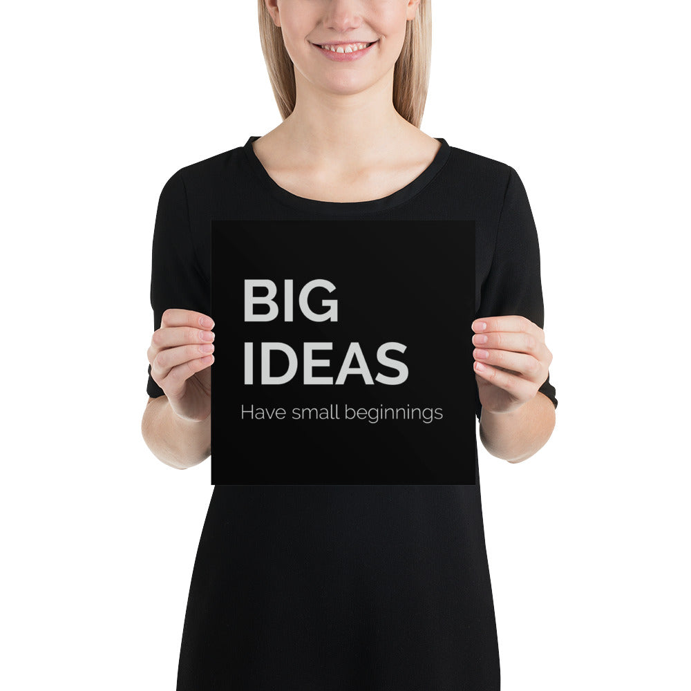 Poster - Quotes - Big ideas, black