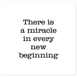 Bubble-free stickers - There is a miracle in every new beginning, H. Hesse