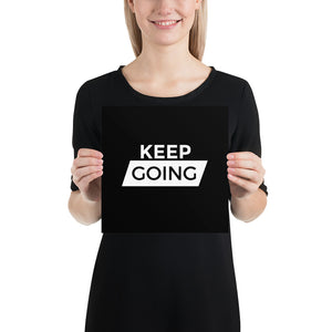 Poster - Quotes - Keep going, black
