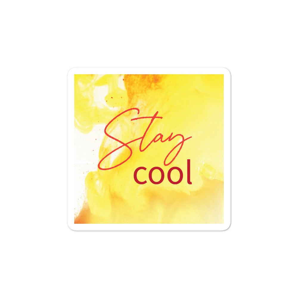 Bubble-free stickers - Stay Cool