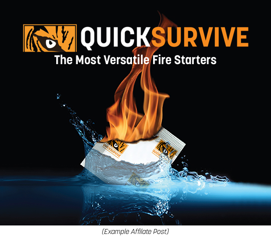 QuickSurvive Fire starters - Formerly QuickFire Fire starters - New survival tiger logo