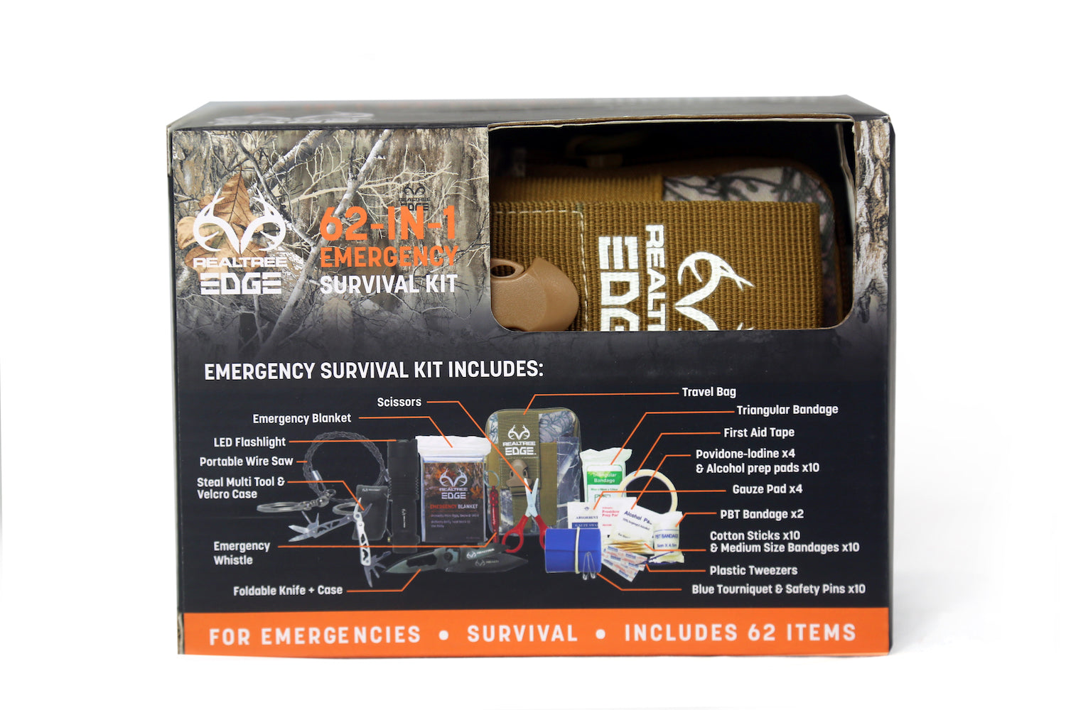 Realtree® 62-In-1 Survival Kit