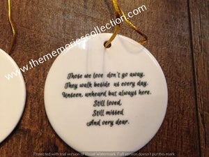 Memorial Photo Keepsake Ceramic Ornament