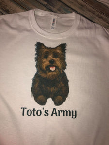 Toto's Army Pup t-shirt